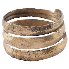 Ancient Viking Coil Ring C.850- 1050 AD Jewelry SZ 11 3/4