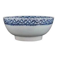 Large English Export Porcelain Bowl