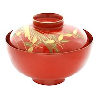 Japanese Lacquered Bowl Owan - Meiji Period