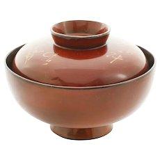 Japanese Lacquered Bowl Owan - Meiji Period