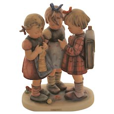 "Goebel Hummel Germany # 177 SCHOOL GIRLS Large 9 1/2"" TMK 3"