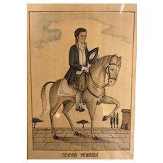 Original drawing. Spanish Nobleman of  Menorca.