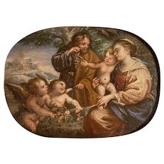 Italian school. 18th - 19th century. Holy Family with Angels.