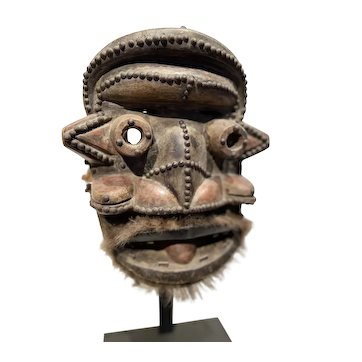 Guere Men's Carved Animal Spirit Mask, Cote d'Ivoire
