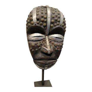 Guere Carved Animal Spirit Wooden Mask, Cote d'Ivoire