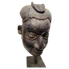 Bamum, Kom or Babanki Wood Mask / Helmet, Cameroon