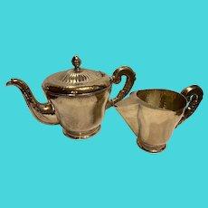 Tea Set Art Deco Style, Silver Plated, 1940