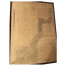 Nautical map of England - West Coast. Trevose Head to Bull Point, 1882. Engraving 19th century.
