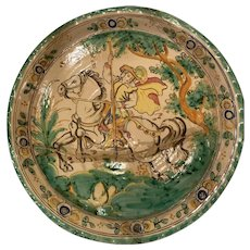 El Puente del Arzobispo hand painted ceramic plate