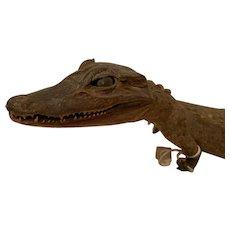 Stuffed baby alligator/ crocodile, c.1900