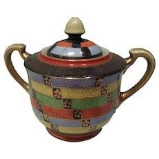 Sugar bowl. Oriental Art deco. From 1920-40's