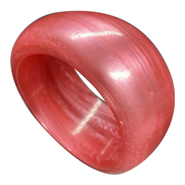 Screaming Hot Pink Chunky Lucite Bangle Bracelet