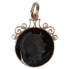 Victorian Sard Intaglio Watch Fob in Rose Gold