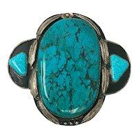 ENORMOUS Museum Quality Navajo Turquoise Belt Buckle