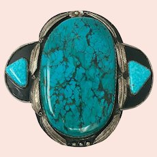 ENORMOUS Museum Quality Navajo Turquoise Belt Buckle
