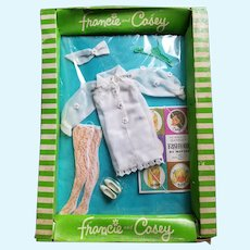 """1960s Barbie Doll Outfit #1280 """"Cool White"""" NIB"""