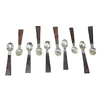 William Spratling sterling silver demitasse spoons (10)