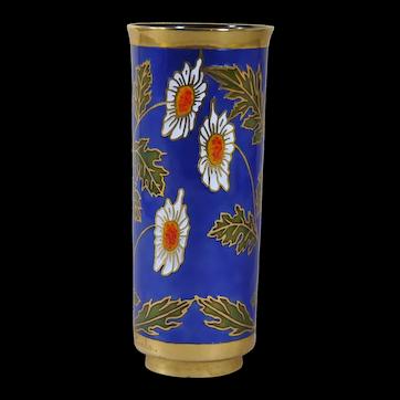 Miguel Pineda enamel mid century vase