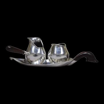 Los Castillo 1940s sterling silver Chocolate set