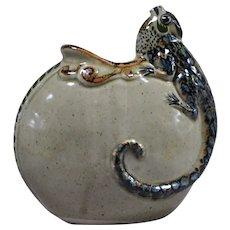 Jorge Wilmot Mexican stoneware Iguana pot