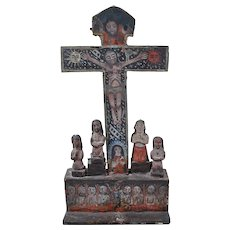 Cruz de Animas / Cross of Souls Mexican folk art