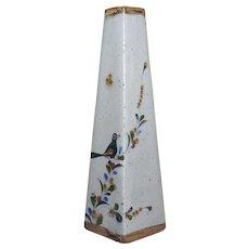 "Jorge Wilmot Mexican folk art Tonala stoneware tall bud vase 12"""