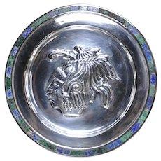 Arte de Plata Jacopo Taxco Maya Pakal sterling silver wall plate