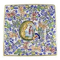 "Vintage Uriarte Talavera large serving centre dish / basin / wall plate 14"""