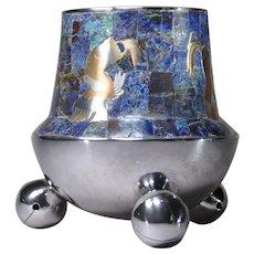 Los Castillo Taxco sliver plated bell footed vase