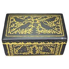 """A vintage Lacquered box from Olinala 10"""""""
