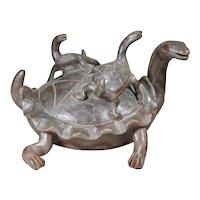Heron Martinez Mexican folk art ceramic turtles