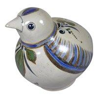 "Jorge Wilmot Mexican Tonala folk art stoneware large bird 9"""