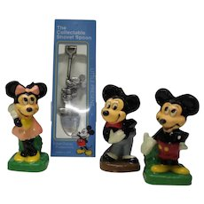 Mickey Mouse NOS Candles and Collectors Spoon