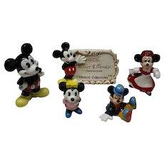 5 Disney Character Figurines