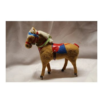 Vintage 1930's to 40's Pull Toy Horse W/O the Pull