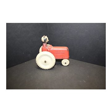 Mickey's Tractor 1930's to 40's Toy