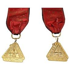 Railroad 1939 Womens Railroad Conductors Union Auxillary Medals