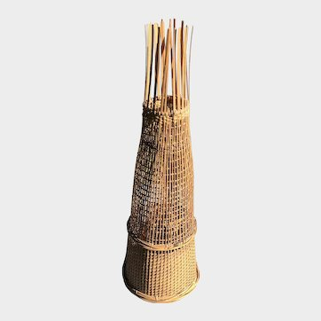 Woven Thai Fish Trap - Original Folk Art