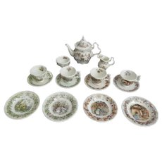Brambly Hedge Tea Service 15 Piece Miniature Set  Royal Doulton First Quality  Made In England