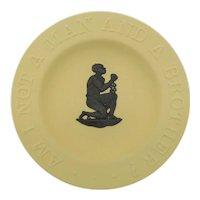 Wedgwood Yellow Slavery Abolition Pin Dish Cane And Black Jasperware