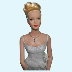 """Tonner Doll, Tyler Wentworth Collection, 16"""" Blonde Doll with Silver Dress, """"Shakespeare in the Park"""""""