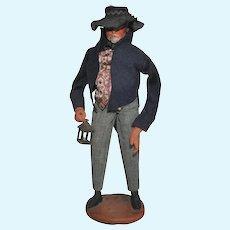 French Santon de Provence Collectible Figure, Night Watchman