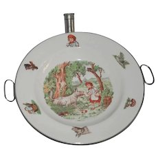 Vintage Red Riding Hood Child's Warming Plate