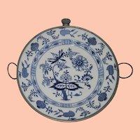 Antique Meissen Blue Onion Danube Child's Warming Dish