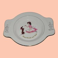 Betsy McCall Vintage Child's Baby Plate that Holds Spoon and Fork