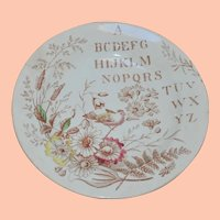 Antique English Alphabet Victorian Child's Plate, A. Shaw & Son