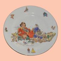 Vintage Child's Eating Plate, Capture of Gulliver, Gulliver's Travels