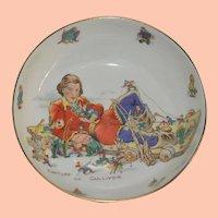 Vintage Child's Eating Bowl, Capture of Gulliver, Gulliver's Travels