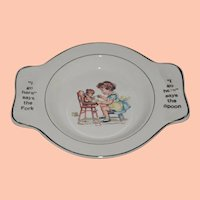 Vintage Child's Eating Plate that Holds Spoon and Fork
