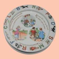 Vintage Porcelain Child's German ABC Nursery Rhyme Plate